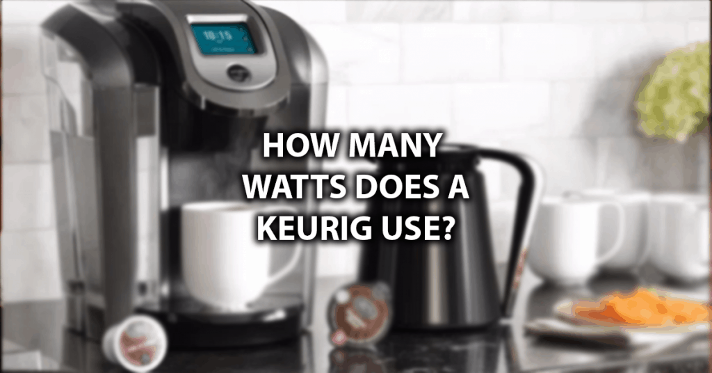 how many amps does a keurig use
