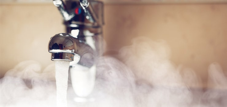 HOT WATER FROM TAP