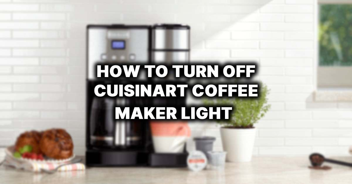 how to turn off cuisinart coffee maker light