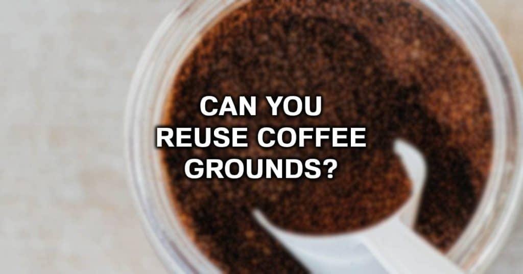 use coffee grounds twice