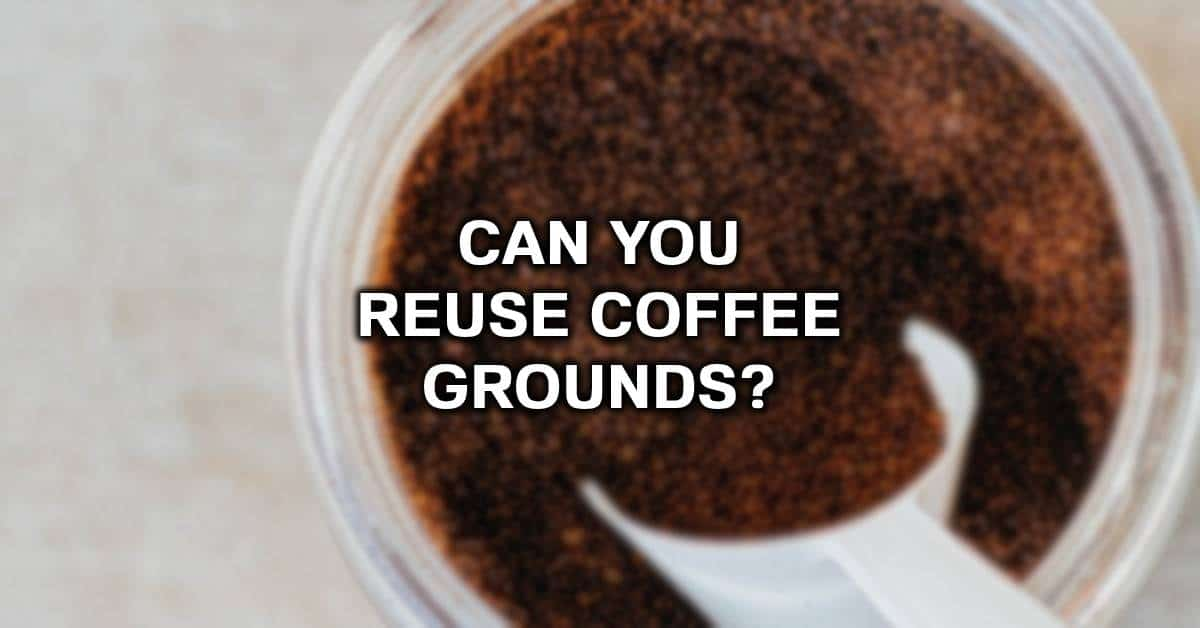 use coffee grounds twice