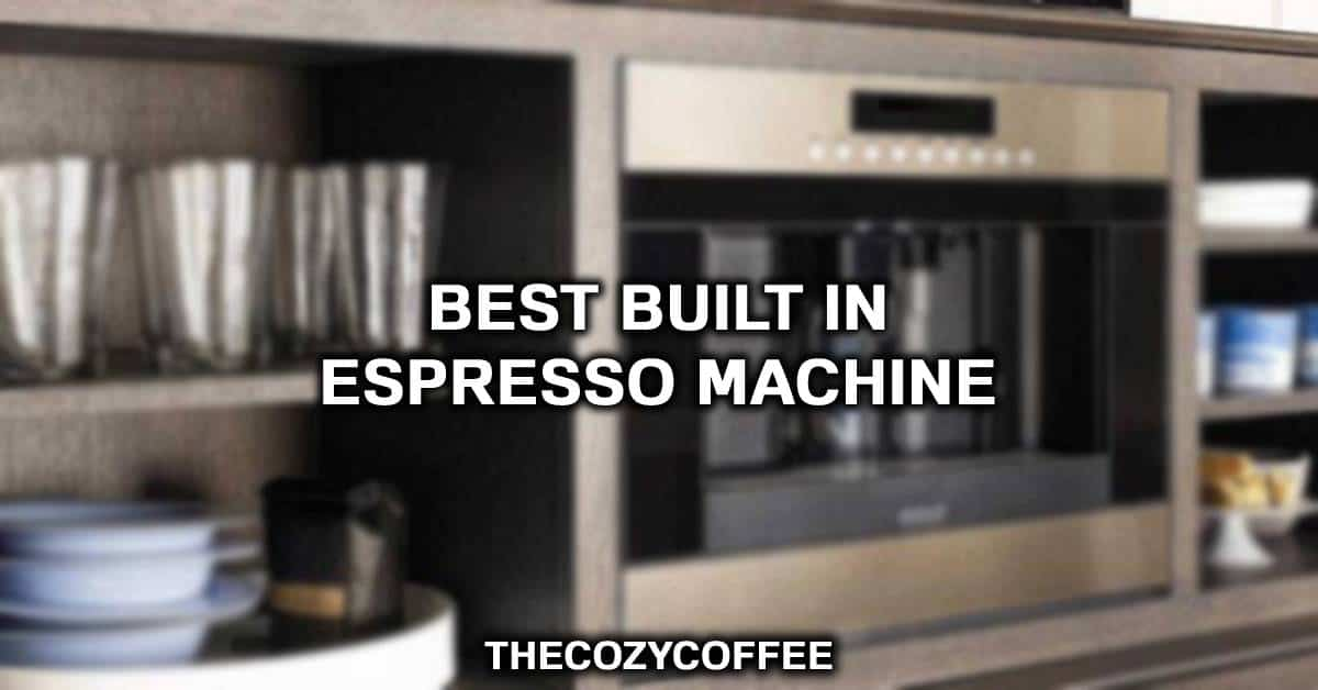built in espresso machine