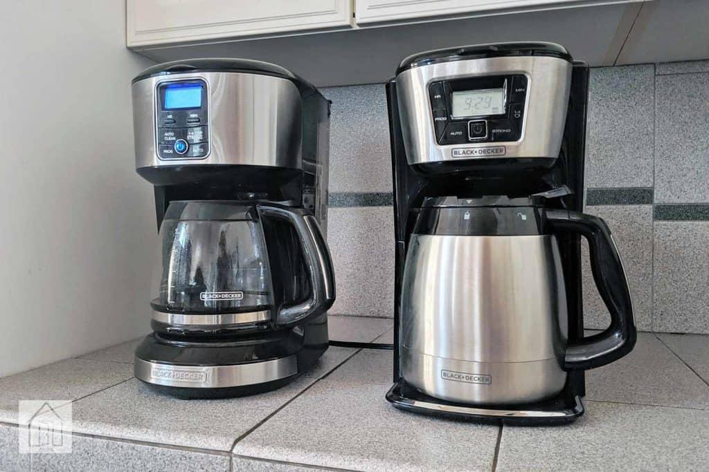 black and decker coffee maker program