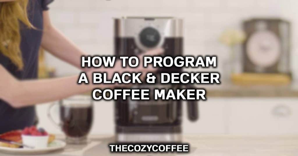how to use black and decker coffee maker