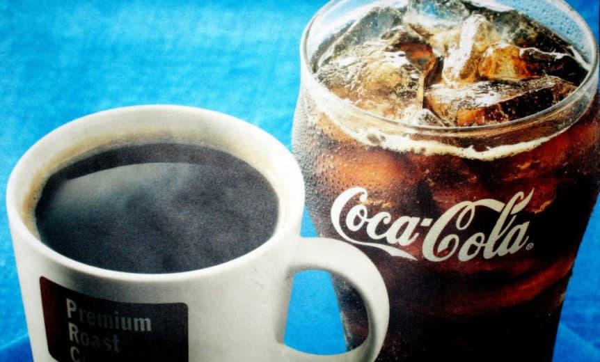 caffeine in pop vs coffee