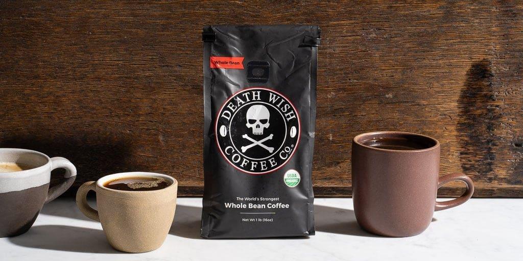 how many mg of caffeine in death wish coffee