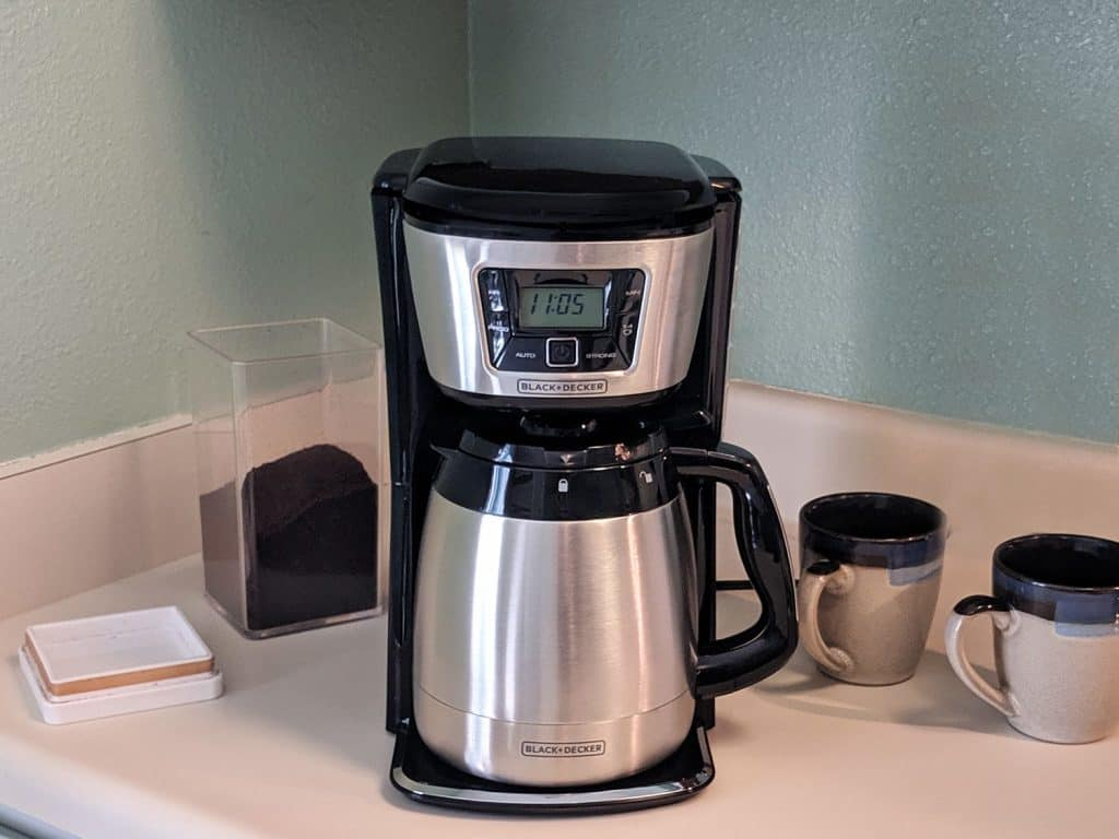 how to set timer on black and decker coffee maker