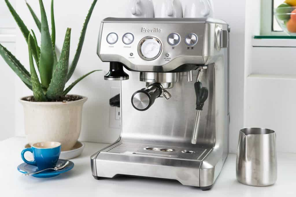 coffee grinder and espresso machine