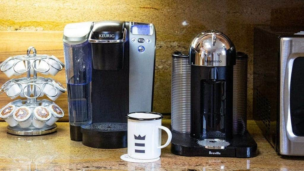 nespresso and keurig next to eachother