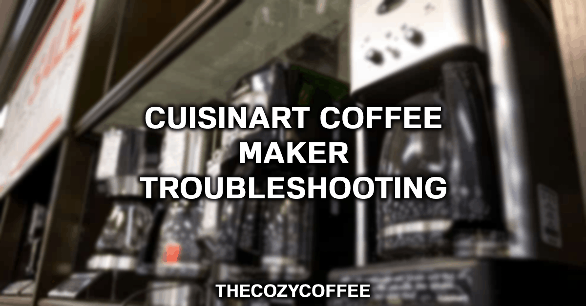 cuisinart coffee maker stopped working