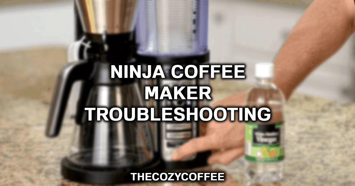 ninja coffee maker leaking water