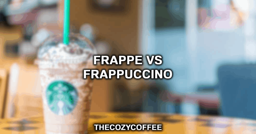 difference between frappe and frappuccino