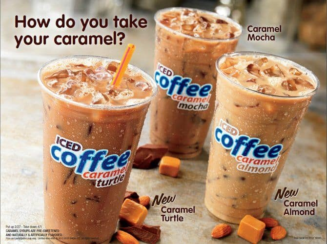 dunkin iced coffee flavors