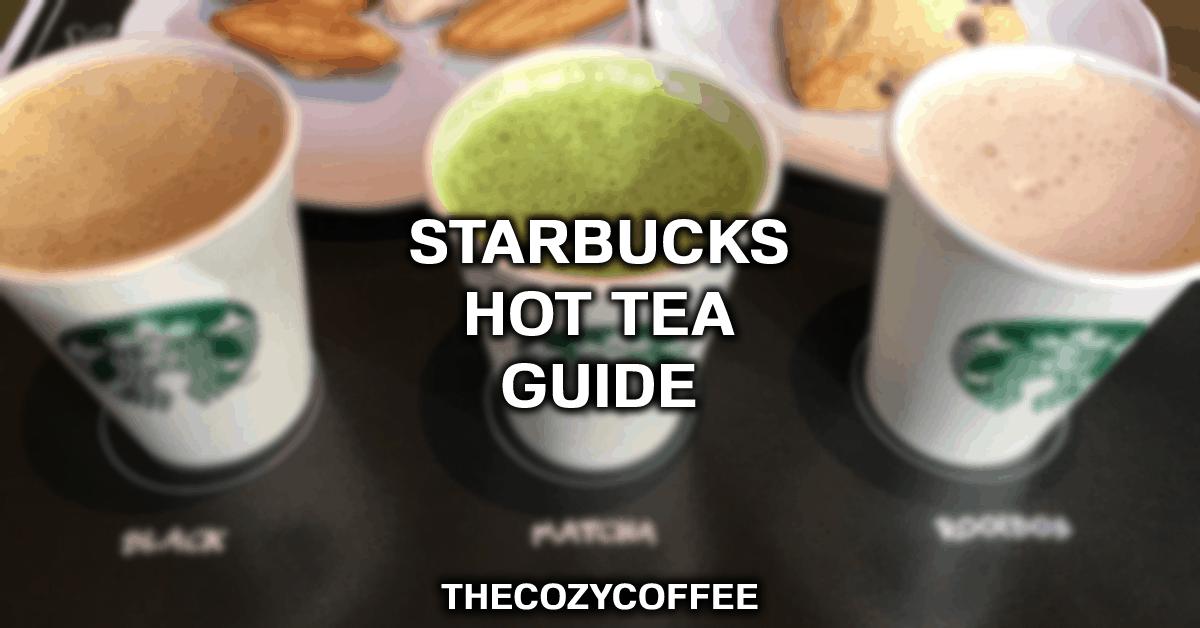 types of tea at starbucks
