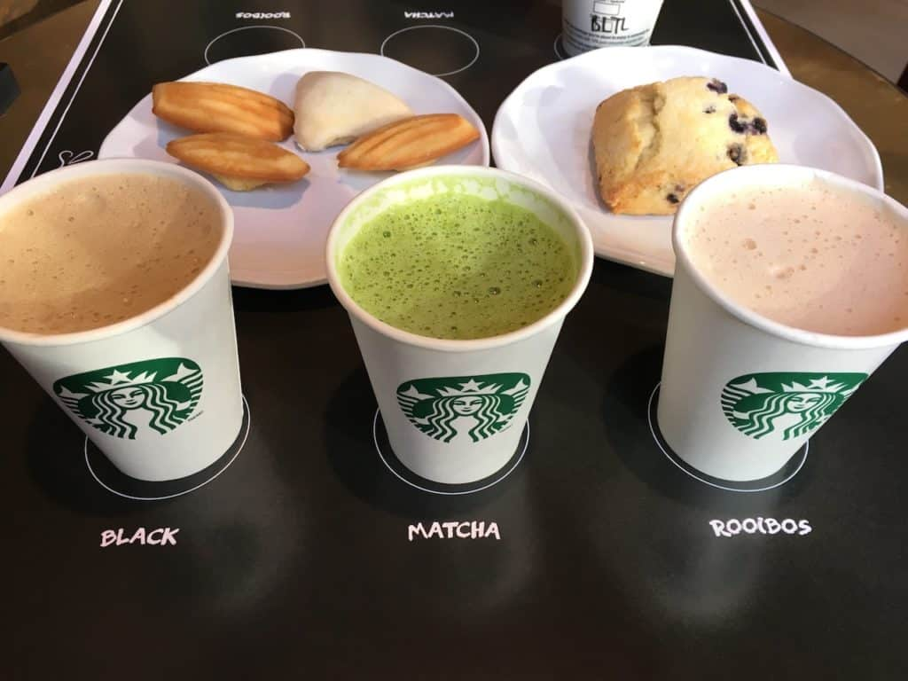 what tea does starbucks have