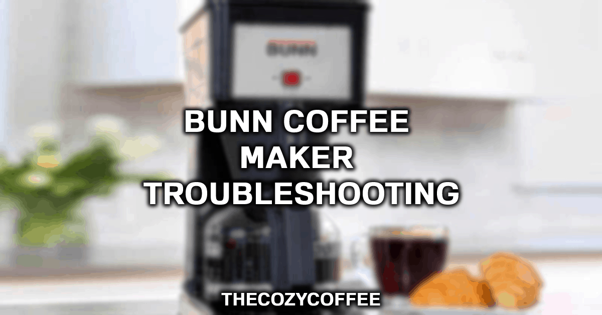 bunn cappuccino machine troubleshooting