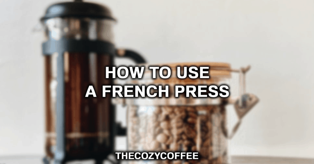 using a french press