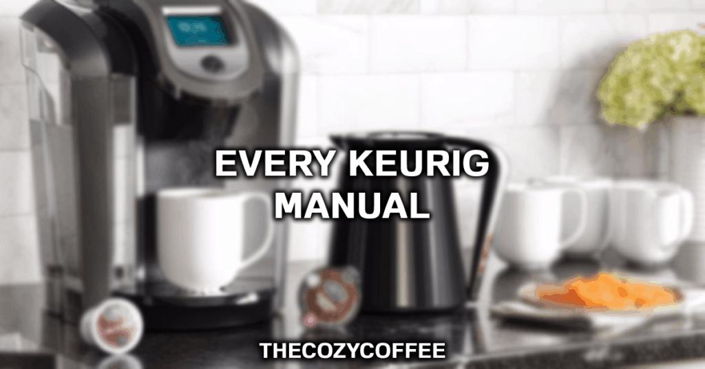 keurig manuals