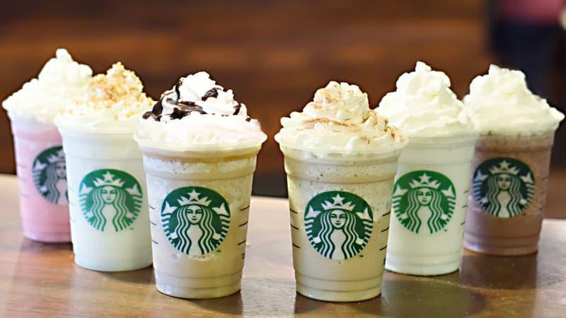 starbuck latte menu