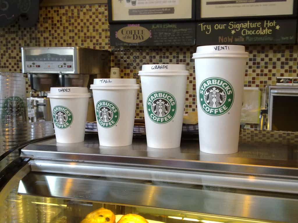 starbuck size cups